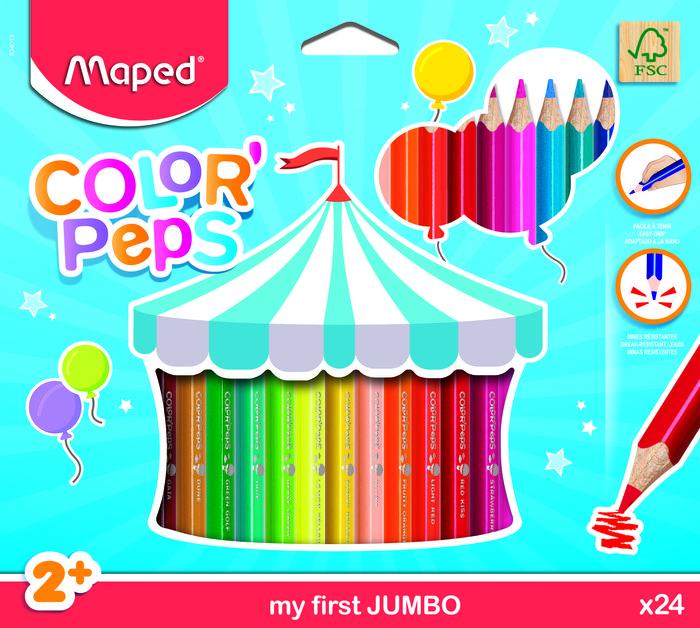 Lapiz maped colorpeps jumbo 24 colores surtidos