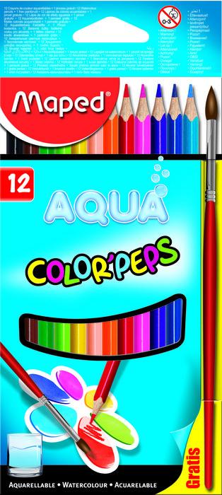 Lapices de colores acuarel x12 estuc car