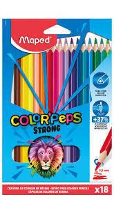 Lapiz colores plastico colorpeps 18 colores estuche carton
