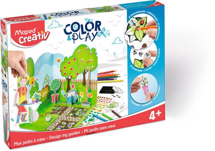Color & play mi jardin para crear