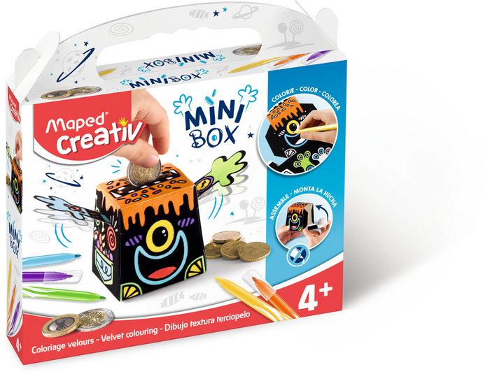 Mini box dibujo textura terciopelo