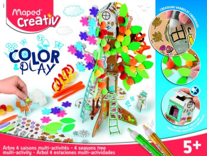 Arbol 4 estaciones multi actividades color & play