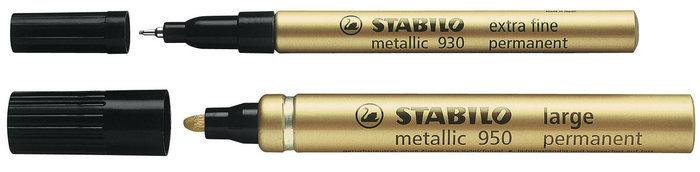 Marcador stabilo metalico oro 2 mm