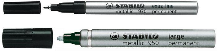 Marcador stabilo metalico plata 2 mm