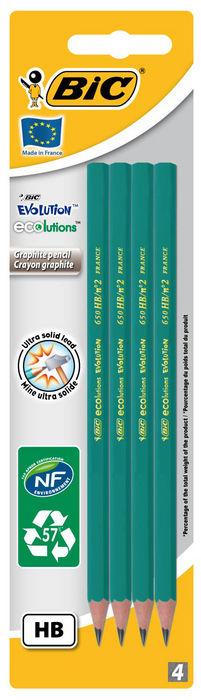 Lapiz grafito bic eco evolution 650 hb blister 4 ud 8902762