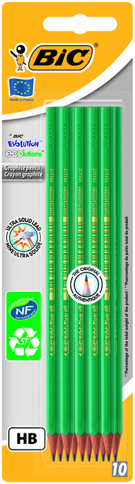 Lapiz grafito bic eco evolution 650 hb blist 10 uds 8902741