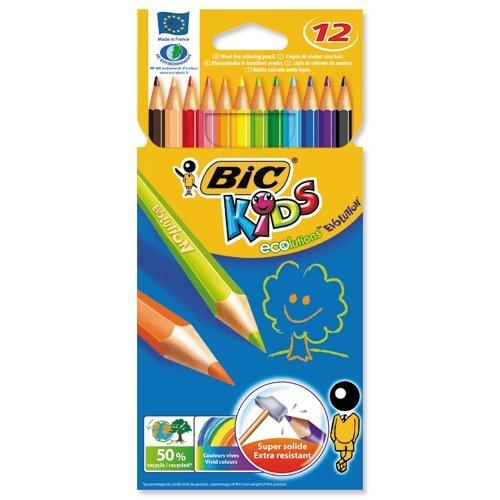 Lapiz bic c/12 colores kids evolution
