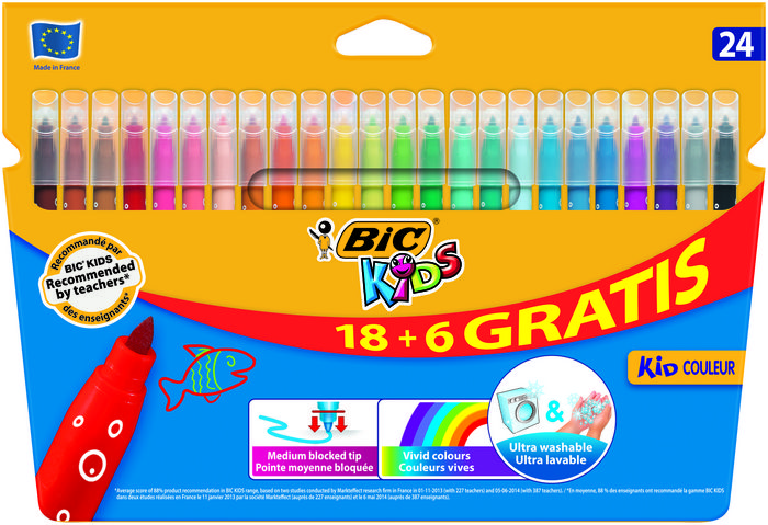 Rotulador bic kids couleur c/18+6 colores surtidos