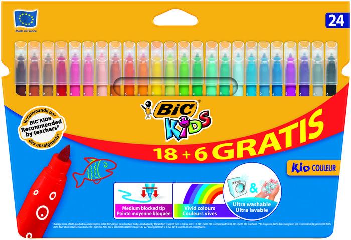 Rotulador bic kids couleur c/18+6 colores surtidos