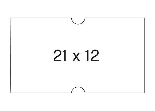 Etiqueta rollo 21x12 blanco removible pack 6 unid 1000 unid