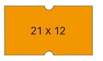 Etiqueta naranja rectangular 210x120mm permanente pack 6