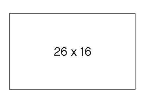 Etiqueta rollo 26x16 blanco permamente pack 6 unid 1000 u