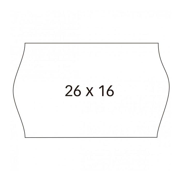 Etiqueta rollo 26x16 blanca removible pack 6unid. 1000 unid