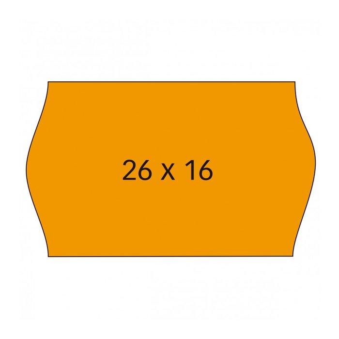 Etiqueta rollo 26x16 naranja removible pack 6und. 1000 unid