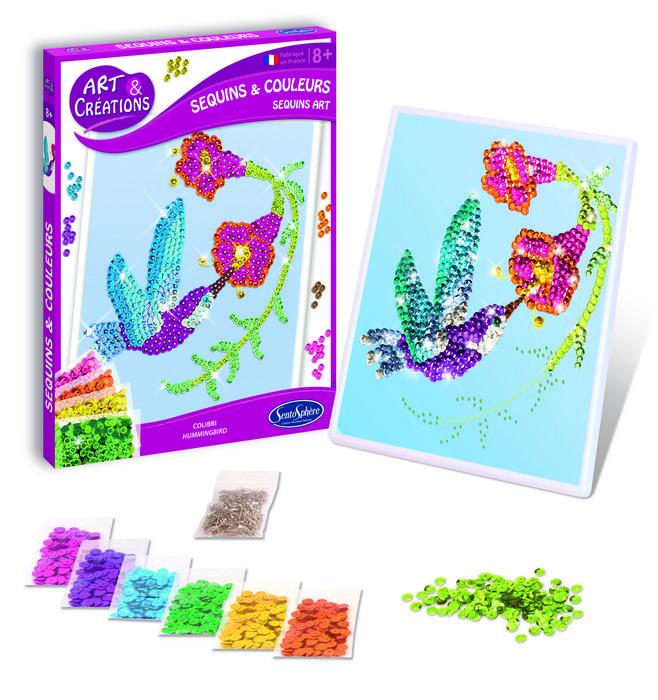 Juego sentosphere lentejuelas de colores colibri
