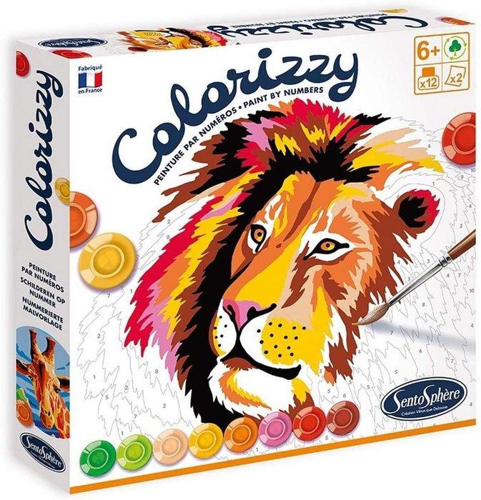 Juego set colorerar colorizzy por numeros savana