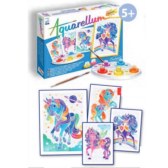 Juego sentosphere aquarellum junior unicornios