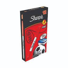 Rotulador permanente sharpie fino 0.9 rojo