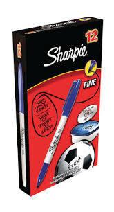 Rotulador permanente sharpie fino 0.9 mm azul