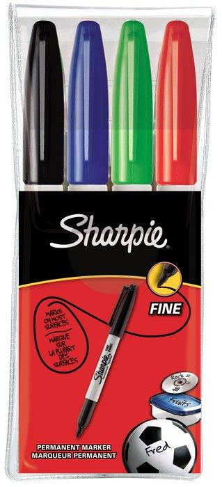 Rotulador sharpie f bolsa 4 colores basicos