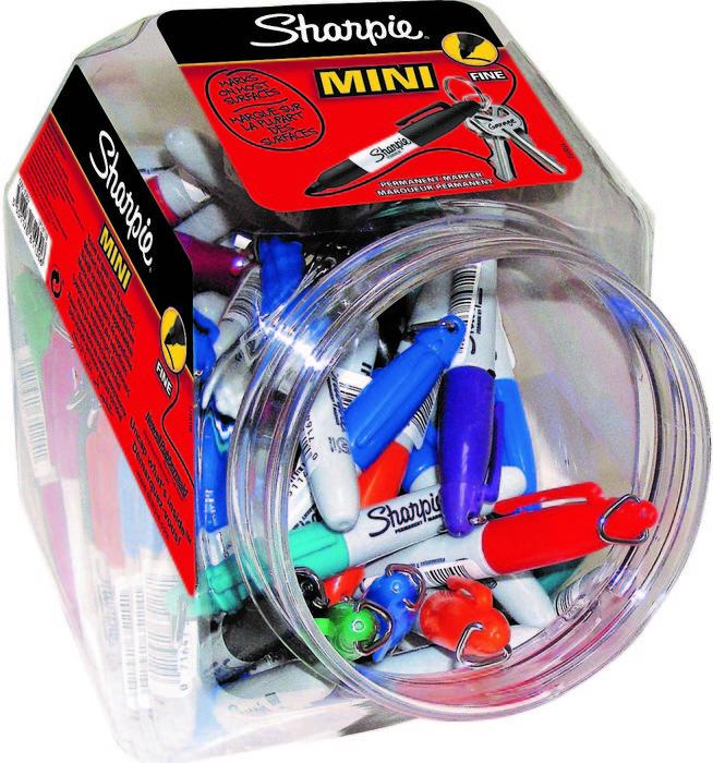 Bombonera 72 rotuladores mini sharpie fine 18 color surtido