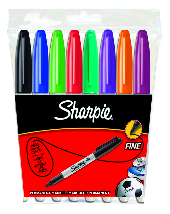 Rotulador sharpie f bolsa 8 colores surtidos