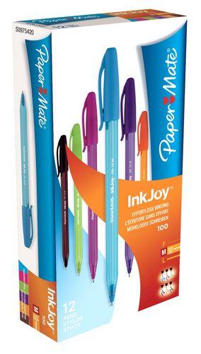 Boligrafo paper mate inkjoy 100 cap colores fantasia
