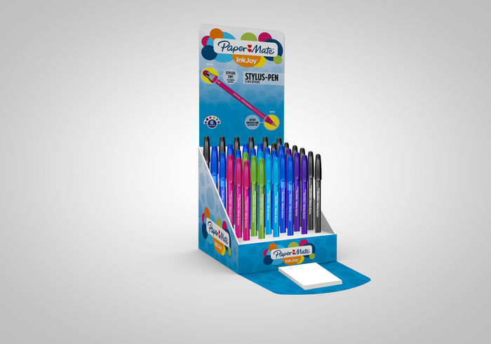 Boligrafo paper mate inkjoy 100cap stylus exp 36 unidades