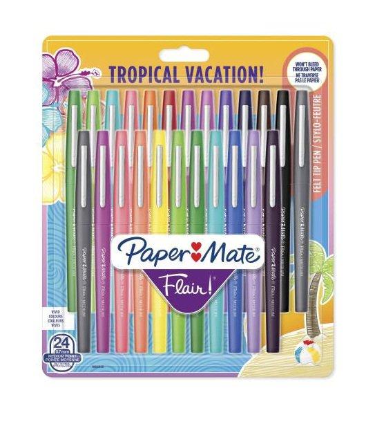Boligrafo paper mate flair tropical bolsa 24 colores surt