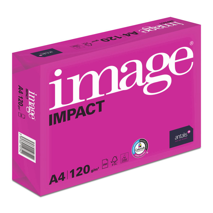 Papel a4 120grs 250h image impact