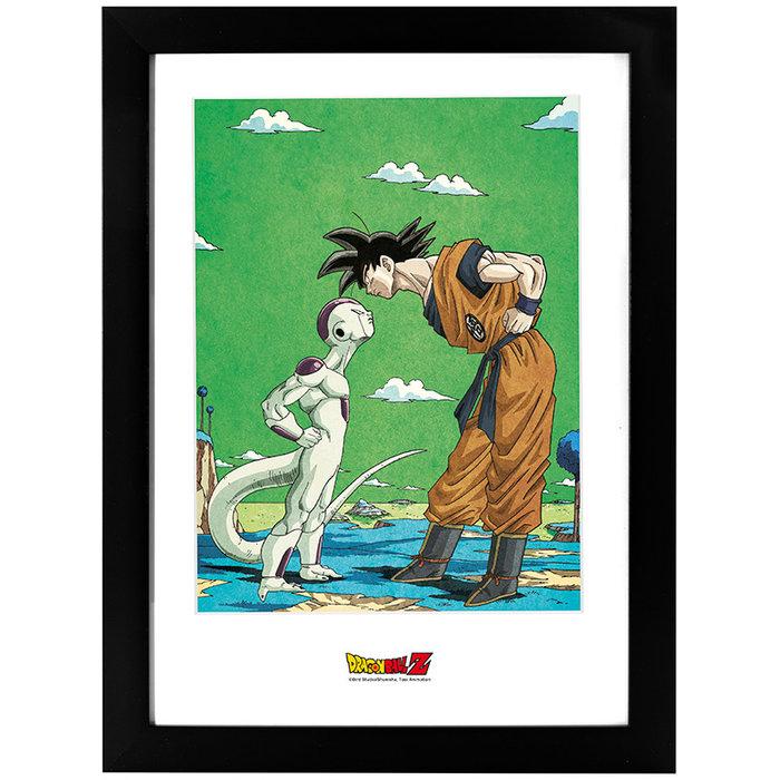 Poster enmarcado dragon ball frieza vs goku