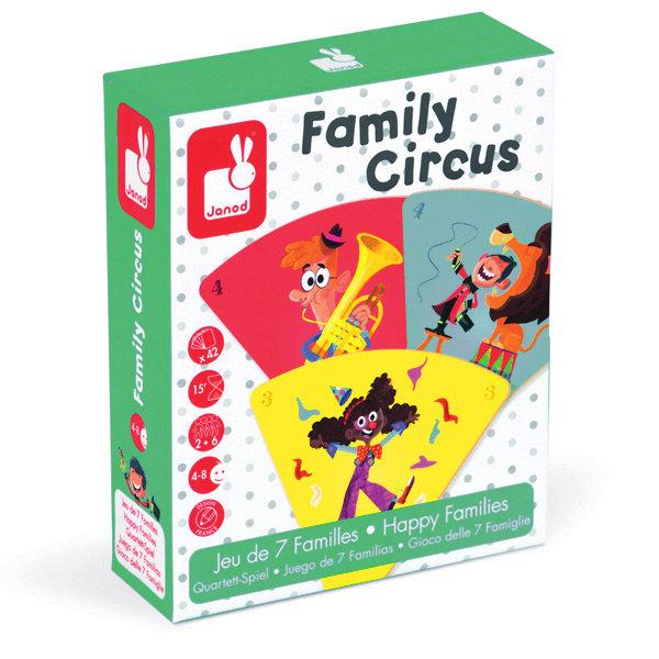 Juego de cartas family circus