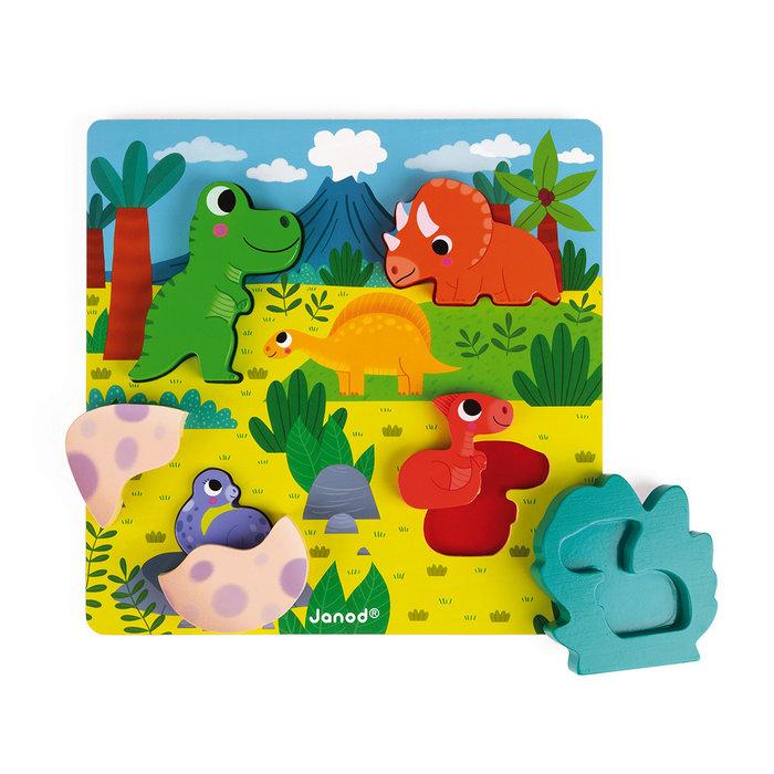 Chunky puzzle escondite dinos