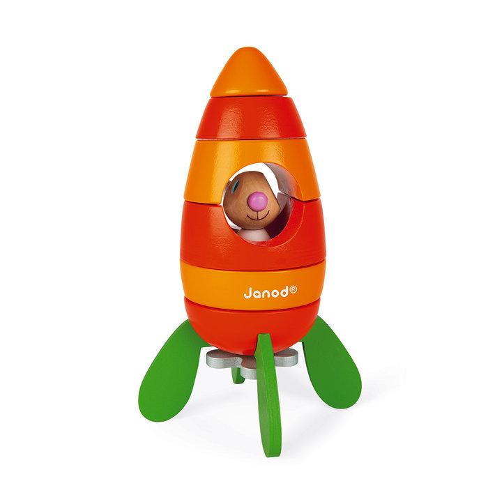 Juego magnetico cohete de zanahoria