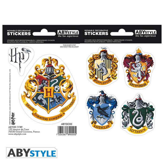 Stickers harry potter hogwarts houses 16 x 11 cm 2 uds