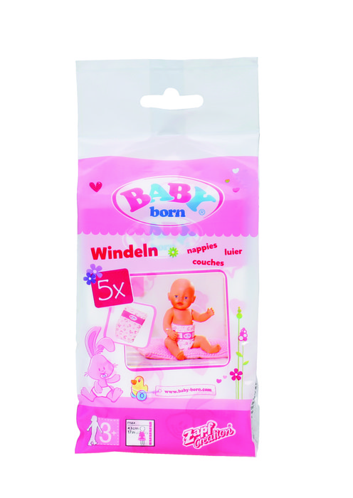 Baby born paÑales, pack 5