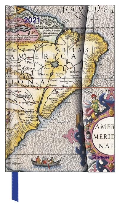 Agenda anual 2021 antique maps  new 10x15
