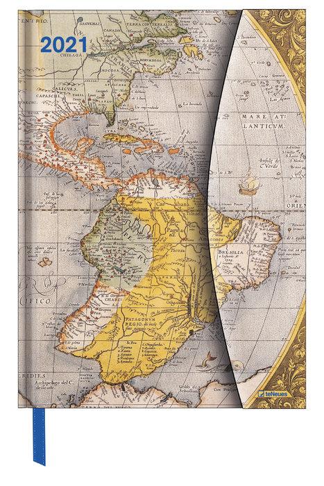 Agenda anual 2021 antique maps  new 16x22
