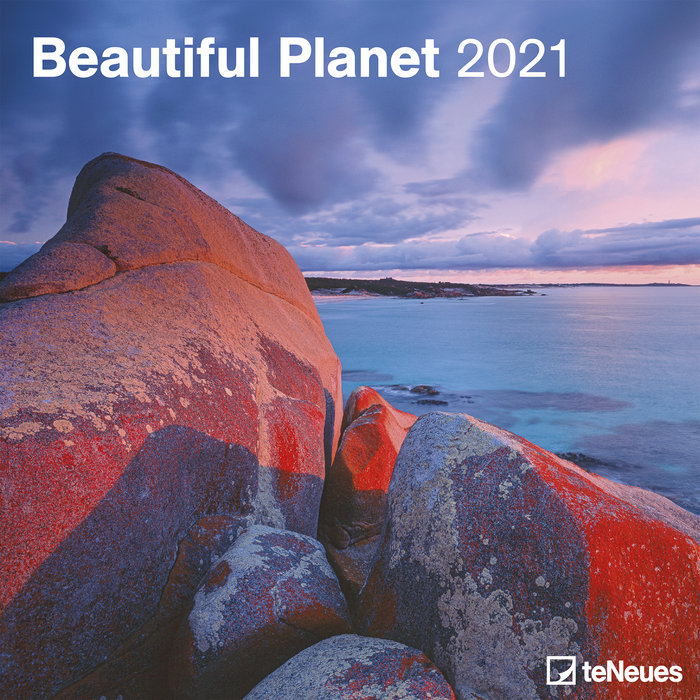 Calendario 2021 beautiful planet new 30x30