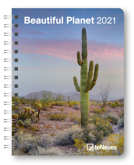 Agenda anual 2021 beautiful planet  new 16.5x21.6