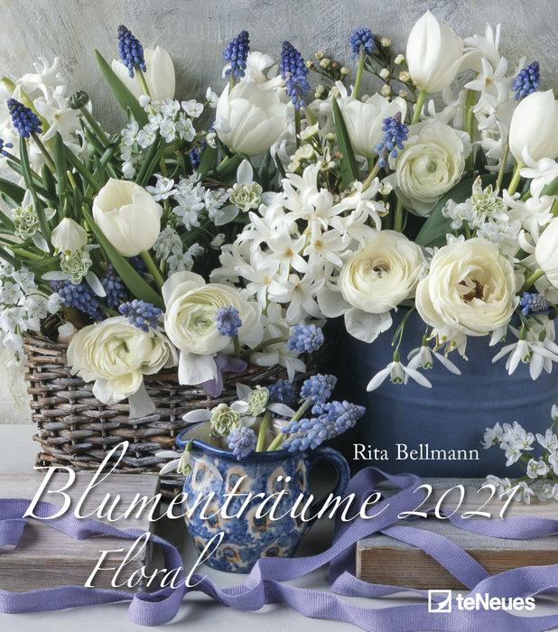 Calendario 2021 floral 34x34