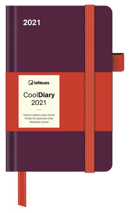 Agenda anual 2021 bordeaux/coral  new 9x14