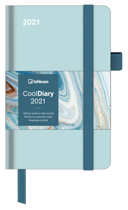 Agenda anual 2021 mint/marble ink  new 9x14
