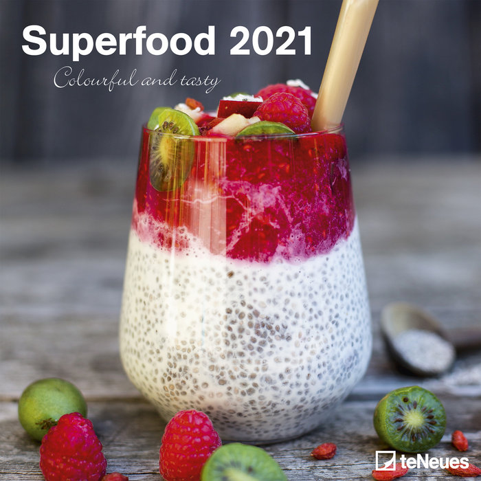 Calendario 2021 superfood colourful and tasty 30x30