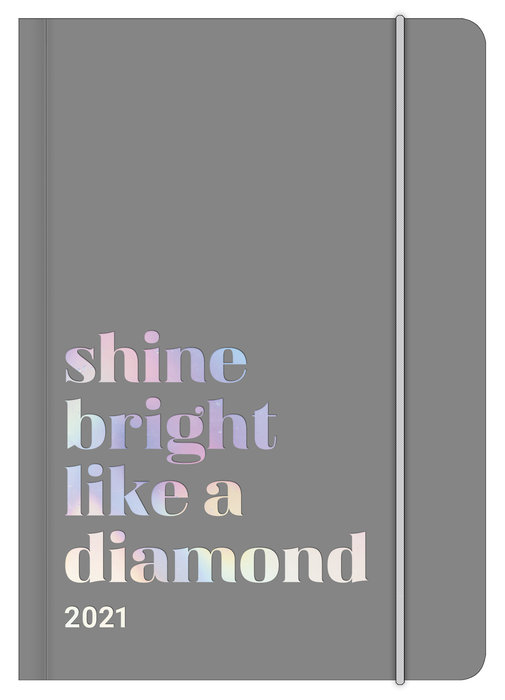 Agenda anual 2021 glamline shine bright  new 12x17