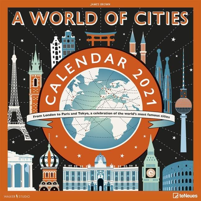 Calendario 2021 james brown a world of cities new 30x30