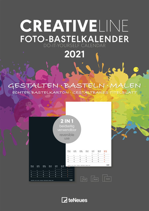 Calendario 2021 creative line 2 in 1 new 21x29.7