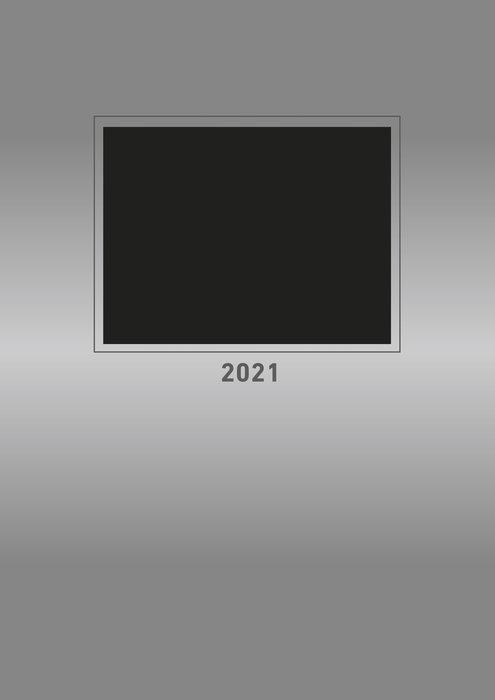Calendario 2021 creative line silver new 21x29.7