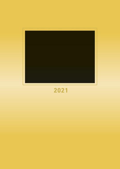 Calendario 2021 creative line gold new 21x29.7