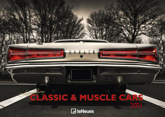 Calendario 2021 legendary classic muscle cars 29.7x42/42x29.